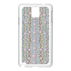 Summer Florals In The Sea Pond Decorative Samsung Galaxy Note 3 N9005 Case (white)