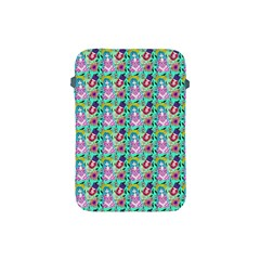 Blue Haired Girl Pattern Green Apple Ipad Mini Protective Soft Cases by snowwhitegirl