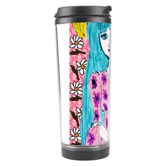 Blue Haired Girl Wall Travel Tumbler by snowwhitegirl