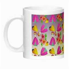 Girl With Hood Cape Heart Lemon Patternpurple Ombre Night Luminous Mugs by snowwhitegirl