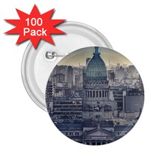 Buenos Aires Argentina Cityscape Aerial View 2 25  Buttons (100 Pack)