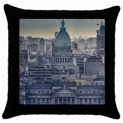 Buenos Aires Argentina Cityscape Aerial View Throw Pillow Case (black)