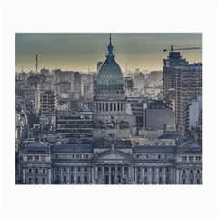 Buenos Aires Argentina Cityscape Aerial View Small Glasses Cloth