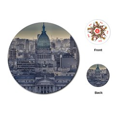 Buenos Aires Argentina Cityscape Aerial View Playing Cards Single Design (round)