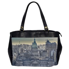 Buenos Aires Argentina Cityscape Aerial View Oversize Office Handbag (2 Sides)