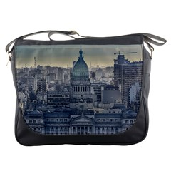 Buenos Aires Argentina Cityscape Aerial View Messenger Bag
