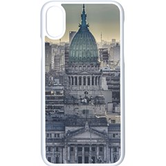 Buenos Aires Argentina Cityscape Aerial View Iphone X Seamless Case (white)