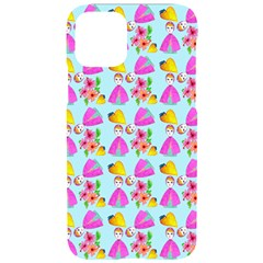 Girl With Hood Cape Heart Lemon Pattern Blue Iphone 11 Pro Black Uv Print Case by snowwhitegirl
