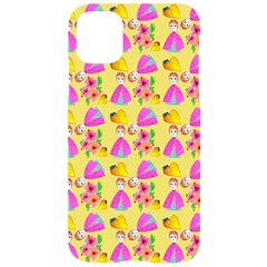 Girl With Hood Cape Heart Lemon Pattern Yellow Iphone 11 Black Uv Print Case by snowwhitegirl
