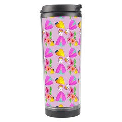 Girl With Hood Cape Heart Lemon Pattern Lilac Travel Tumbler by snowwhitegirl