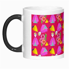 Girl With Hood Cape Heart Lemon Pattern Pink Morph Mugs by snowwhitegirl