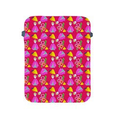 Girl With Hood Cape Heart Lemon Pattern Pink Apple Ipad 2/3/4 Protective Soft Cases by snowwhitegirl