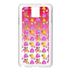 Girl With Hood Cape Heart Lemon Pattern Red Ombre Samsung Galaxy Note 3 N9005 Case (white) by snowwhitegirl