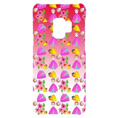 Girl With Hood Cape Heart Lemon Pattern Red Ombre Samsung S9 Black Uv Print Case