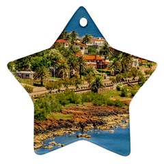 Punta Colorada Aerial Landscape Scene, Uruguay Star Ornament (two Sides)