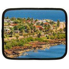 Punta Colorada Aerial Landscape Scene, Uruguay Netbook Case (large) by dflcprintsclothing
