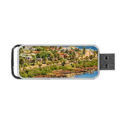 Punta Colorada Aerial Landscape Scene, Uruguay Portable Usb Flash (one Side) by dflcprintsclothing