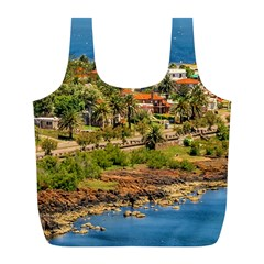 Punta Colorada Aerial Landscape Scene, Uruguay Full Print Recycle Bag (l)