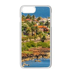 Punta Colorada Aerial Landscape Scene, Uruguay Iphone 8 Plus Seamless Case (white)