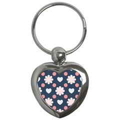 Flowers And Hearts  Key Chain (heart)