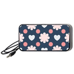 Flowers And Hearts  Portable Speaker