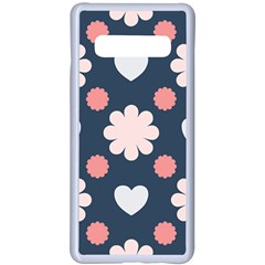Flowers And Hearts  Samsung Galaxy S10 Plus Seamless Case(white)