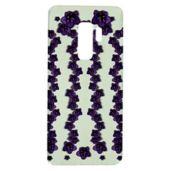 Blue Flowers Of Peace Small Of Love Samsung Galaxy S9 Plus Tpu Uv Case