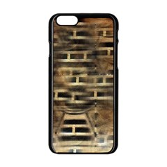 Textures Brown Wood Iphone 6/6s Black Enamel Case