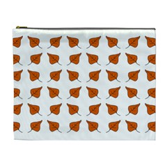 Fallen Leaves Autumn Cosmetic Bag (xl)