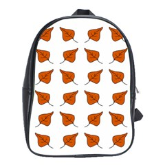 Fallen Leaves Autumn School Bag (large)