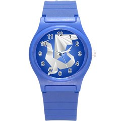Origami Dragon Round Plastic Sport Watch (s)