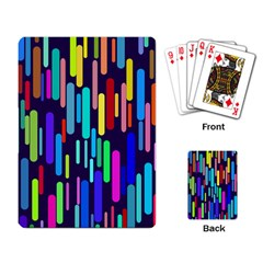 Abstract Line Playing Cards Single Design (rectangle)