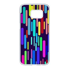 Abstract Line Samsung Galaxy S7 Edge White Seamless Case