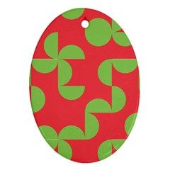Retro Red And Greren Ornament (oval)
