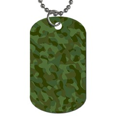 Green Army Camouflage Pattern Dog Tag (one Side) by SpinnyChairDesigns