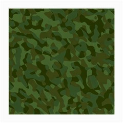 Green Army Camouflage Pattern Medium Glasses Cloth