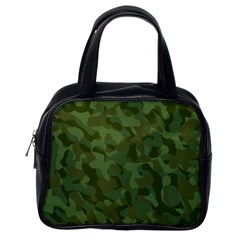 Green Army Camouflage Pattern Classic Handbag (one Side)