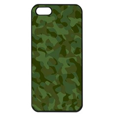 Green Army Camouflage Pattern Iphone 5 Seamless Case (black)