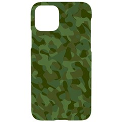 Green Army Camouflage Pattern Iphone 11 Pro Black Uv Print Case by SpinnyChairDesigns