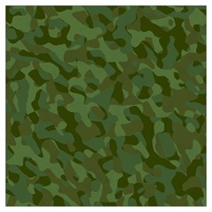Green Army Camouflage Pattern Long Sheer Chiffon Scarf  by SpinnyChairDesigns