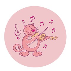 Cat With Violin Pop Socket (white)