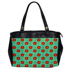 Flower Pattern Ornament Oversize Office Handbag