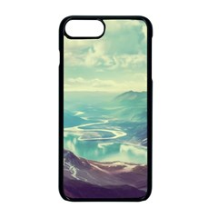 Landscape Mountains Lake River Iphone 8 Plus Seamless Case (black)