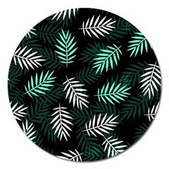 Illustrations Tropical Background Magnet 5  (round)