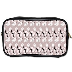 Pink Floral Toiletries Bag (two Sides) by Sparkle