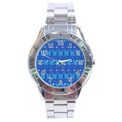 Glitter Butterfly Stainless Steel Analogue Watch