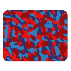 Red And Blue Camouflage Pattern Double Sided Flano Blanket (large)  by SpinnyChairDesigns