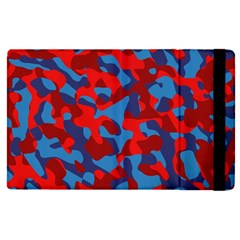 Red And Blue Camouflage Pattern Apple Ipad Pro 12 9   Flip Case