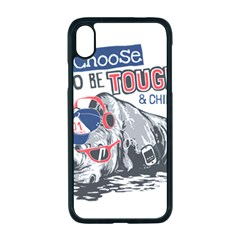 Choose To Be Tough & Chill Iphone Xr Seamless Case (black)