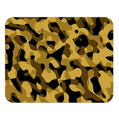 Black Yellow Brown Camouflage Pattern Double Sided Flano Blanket (large)